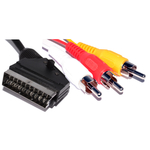 Edision AV Cable Scart male - 3x RCA male 1.5m