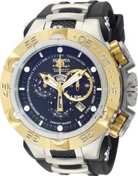 Invicta Subaqua Gold Black Rubber Strap 12879