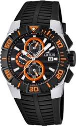 Lotus Black Rubber Chronograph L15778-5