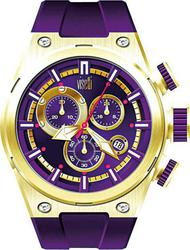 Visetti Capital Gold Case Purple Rubber Strap TB-551GP