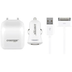 Cabstone Apple 30pin Wall & Car Adapter Set Λευκό (63049)