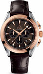 Omega Seamaster Aqua Terra Chronograph Gold & Steel Leather Strap 231.23.44.50.06.001