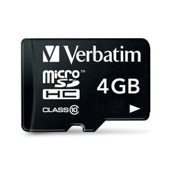 Verbatim microSDHC 4GB Class 10 with Adapter (44080)
