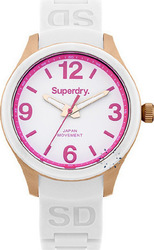 Superdry Ladies Scuba Luxe White Rubber Strap SYL134P