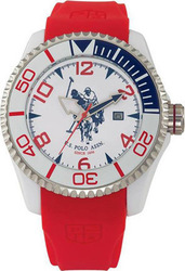 U.S. Polo Assn. U.s. Red Rubber Strap USP4273RD