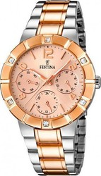 Festina Crystals Multifunction Two Tone Stainless Steel Bracelet F16707/2