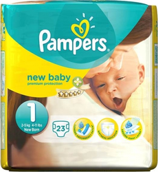 Pampers New Baby No 1 (2-5Kg) 23τμχ