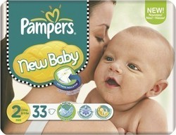 Pampers New Baby No 2 (3-6Kg) 33τμχ