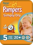 Pampers Simply Dry No 5 (11-25Kg) 20τεμ