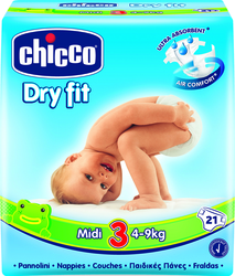 Chicco Dry Fit No 3 (4-9Kg) 21τμχ