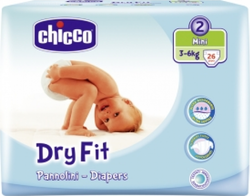 Chicco Dry Fit No 2 (3-6Kg) 25τμχ