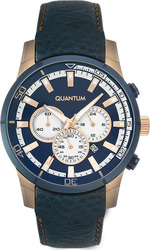 Quantum Adrenaline Adg389 Blue Leather Chronograph ADG389.999