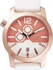 Oxette Rose Gold White Rubber Strap 11X75-00122