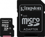 Kingston microSDXC 64GB Class 10 UHS-I