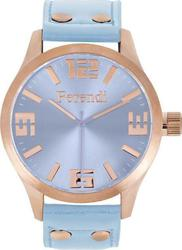 Ferendi 1020-5 Xl Rose Gold Light Blue Leather Strap