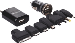 Sandberg Multi-Port Wall & Car Adapter Set Μαύρο (135-80)