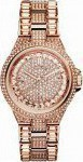 Michael Kors Camile Pave Dial Three Hands Rose Gold Stainless Steel Bracelet MK5948