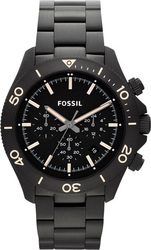 Fossil Retro Traveler Black Chronograph Stainless Steel Watch CH2915