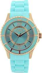 Loisir Ladies Gold Turquoise Rubber Strap 11L7500102