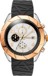 Breeze Cutting Edge Black Rubber Strar Chrono 110231.2