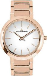 Jacques Lemans Milano Rose Gold Stainless Steel Bracelet 1-1842C