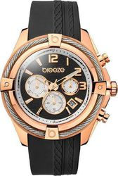 Breeze Flirtini Chronograph Rose Gold Stainless Steel Rubber Strap 110211.13