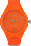 Q&Q Orange Plastic Strap VR28J009Y