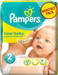 Pampers New Baby Monthly Pack No 2 (3-6 Kg) 240τμχ