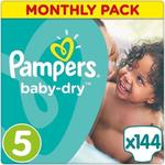 Pampers Baby Dry Monthly Pack No 5 (11-25 Kg) 144τμχ