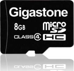 Gigastone microSDHC 8GB Class 4 with Adapter