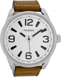 Oozoo Timepieces XXL Brown Leather Strap C6745