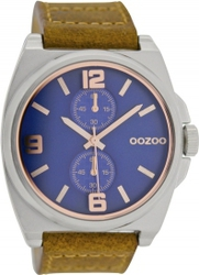 Oozoo Timepieces XL Brown Leather Strap C6756