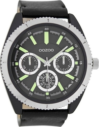 Oozoo Timepieces XXL Black Leather Strap C6779