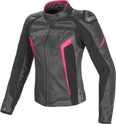 Dainese Racing D1 Pelle Lady Black/Fuxia