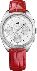Tommy Hilfiger Mia Multifunction Red Leather Strap 1781483