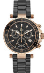 Guess Collection Diver Chronograph Rose Gold Stainless Black Ceramic Bracelet X58003G2S