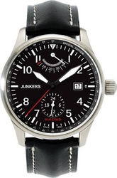 Junkers Hugo Junkers Automatic Black Leather Strap 6666-2