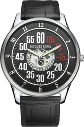 Jacques Farel Black Leather Strap ASL4188