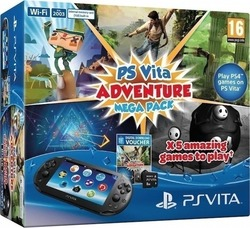 Sony Playstation Vita Wi-Fi (PSVita) 2004 & Adventure Mega Pack & Memory Card 8GB