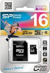 Silicon Power Elite microSDHC 16GB Class 10 U1 with Adapter (40MB/s)