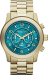 Michael Kors MK8315 Watch Hunger Stop Runway Gold Stainless Steel Chronograph