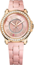 Juicy Couture Pedigree Crystals Rose Gold Pink Rubber Strap 1901054