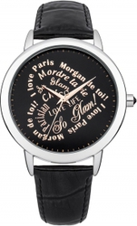 Morgan De Toi Black Leather Strap M1214B