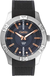 Oxette Stainless Steel Black Rubber Strap 11X07-00271