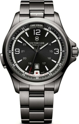 Victorinox Swiss Army Night Vision Black Stainless Steel Bracele 241570