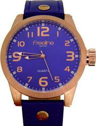 Freeline Premium Xl Rose Gold Blue Leather Strap 2084-3
