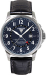 Junkers Mountain Wave Project Gmt Blue Leather Strap 6844-3