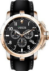 Venus Genesis Chronograph Black Leather Strap VE-1311A6-22-R2S1