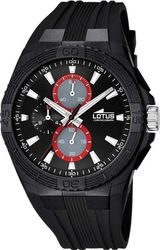 Lotus Sport Chrono Black Rubber Strap L15970/6