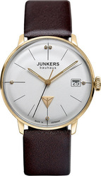 Junkers Bauhaus Crystals Swarovski Brown Leather Strap 6075-4